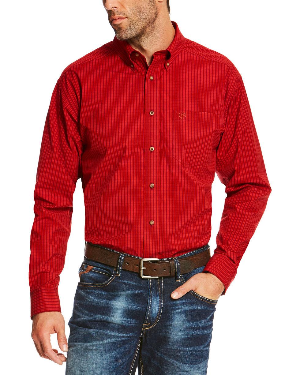 Ariat Men's Ruby Sandberg Plaid Button Up Pro Shirt - Big & Tall, Ruby, hi-res