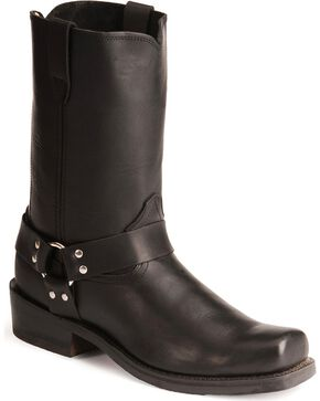 Durango Men's Harness Boots - Square Toe, Black, hi-res