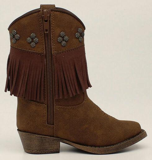 Blazin Roxx Toddler Girls' Zip Annabelle Fringe Boots - Snip Toe, Brown, hi-res