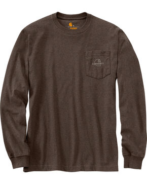 Carhartt Men's Workwear Graphic Carhartt Patch T-Shirt , Dark Brown, hi-res