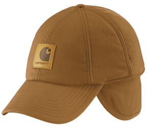 Carhartt WorkFlex® Ear-Flap Cap, Carhartt Brown, hi-res