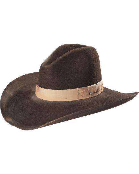 Stetson Men's Dark Brown Elk Run 4X Wool Hat , Dark Brown, hi-res