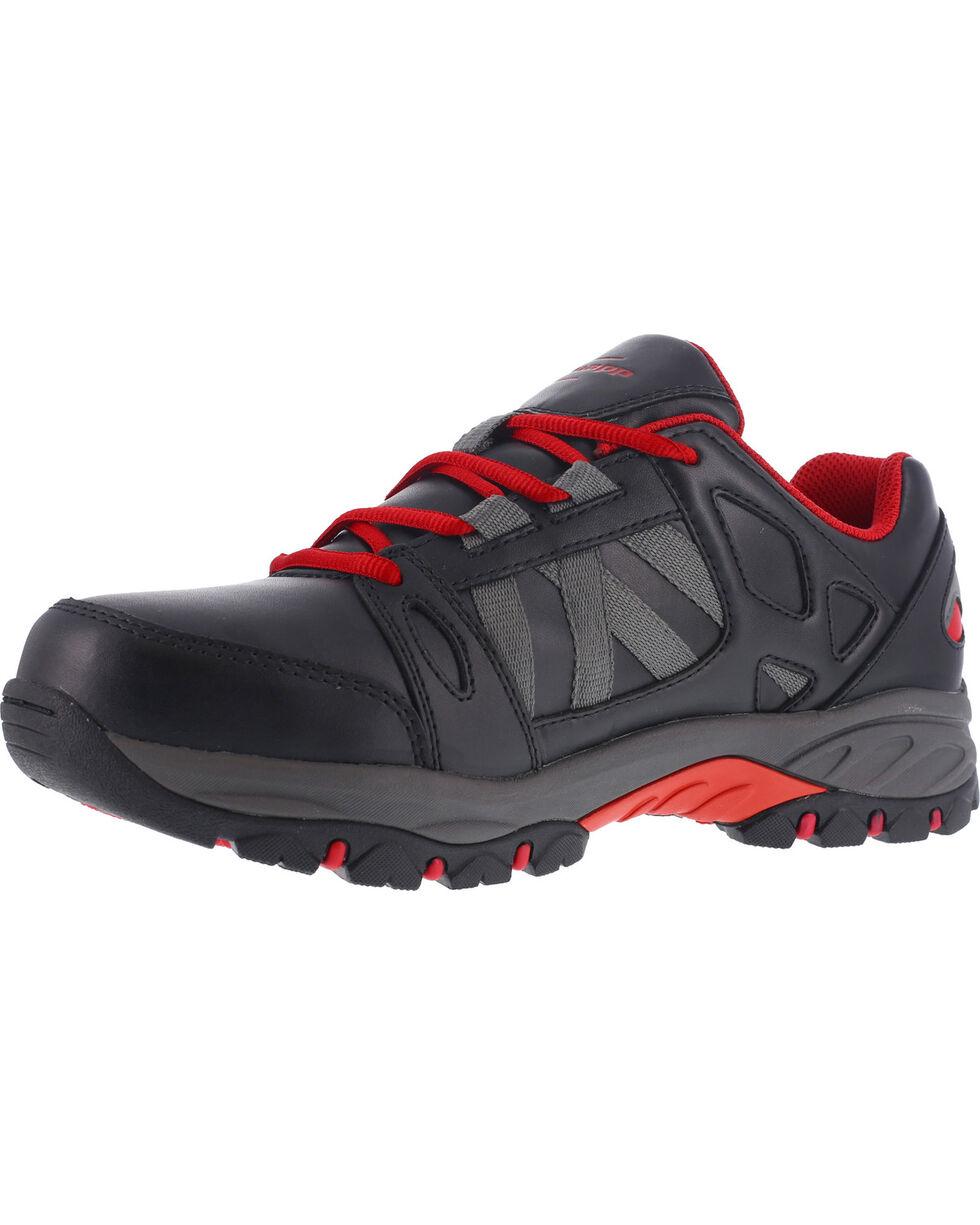 Knapp Men's Athletic Oxford Work Shoes - Steel Toe , Black, hi-res