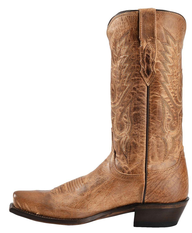 Lucchese Handmade 1883 Mad Dog Goatskin Cowboy Boots - SnipToe, Tan, hi-res