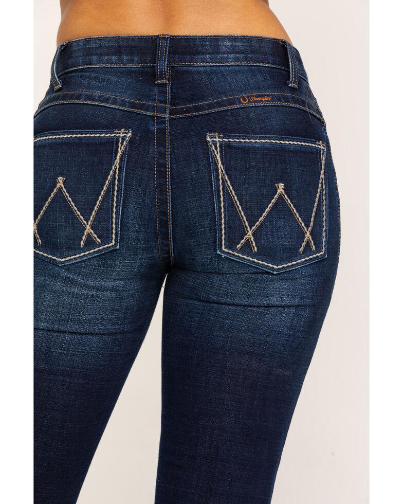 As Real As Wrangler Women's Buchanan Relaxed Bootcut Jeans, Blue, hi-res