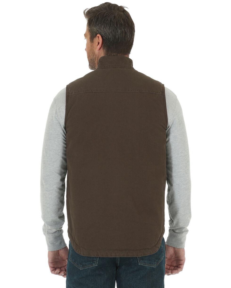 Wrangler Men's RIGGS Workwear Foreman Vest - Big & Tall, Brown, hi-res