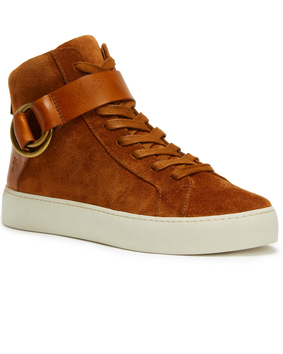 Frye Women's Nutmeg Lena Harness High Shoes  , Lt Brown, hi-res