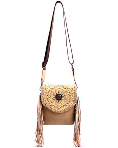 Montana West Women's Dakota Tooled Crossbody Bag, Tan, hi-res