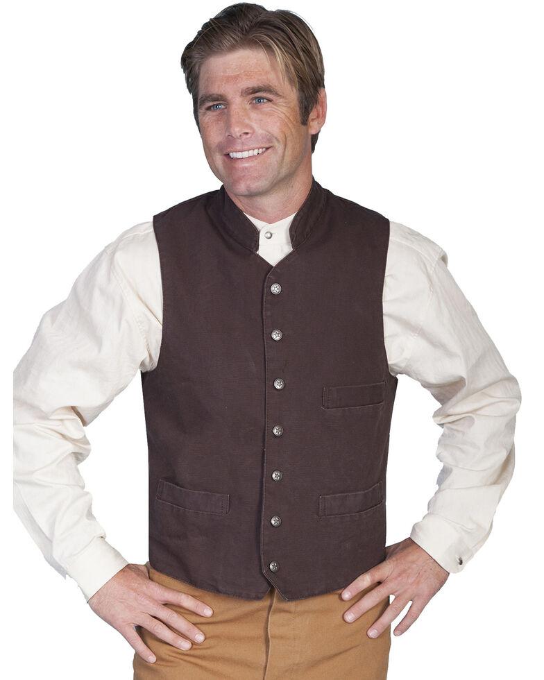 Rangewear by Scully Standup Round Collar Vest - Big & Tall, Walnut, hi-res