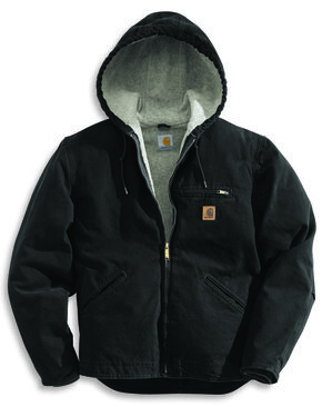 Carhartt Sierra Sherpa Lined Work Jacket - Big & Tall, Black, hi-res