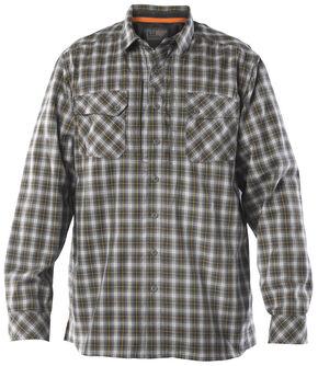 5.11 Tactical Men's Flannel Shirt, Storm, hi-res