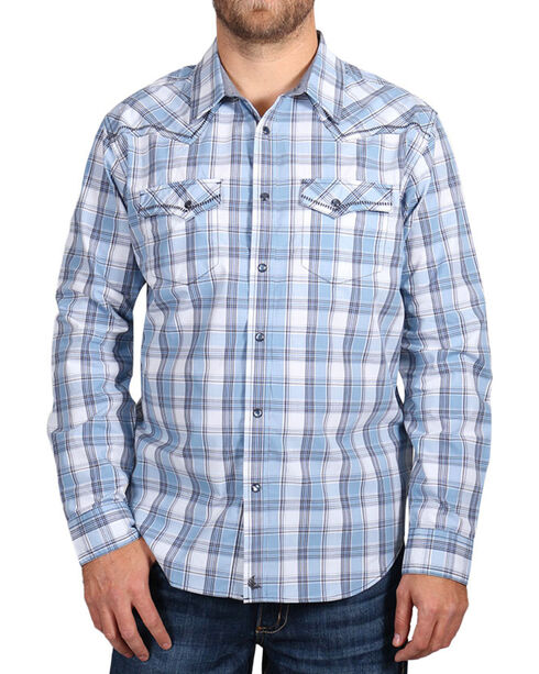 Cody James Men's Light Plaid Long Sleeve Shirt, Light/pastel Blue, hi-res
