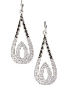 Montana Silversmiths Frost's Candelight Earrings, Silver, hi-res