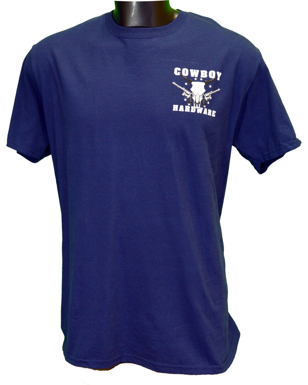 Cowboy Hardware Men's Country Brave Short Sleeve Tee, Navy, hi-res