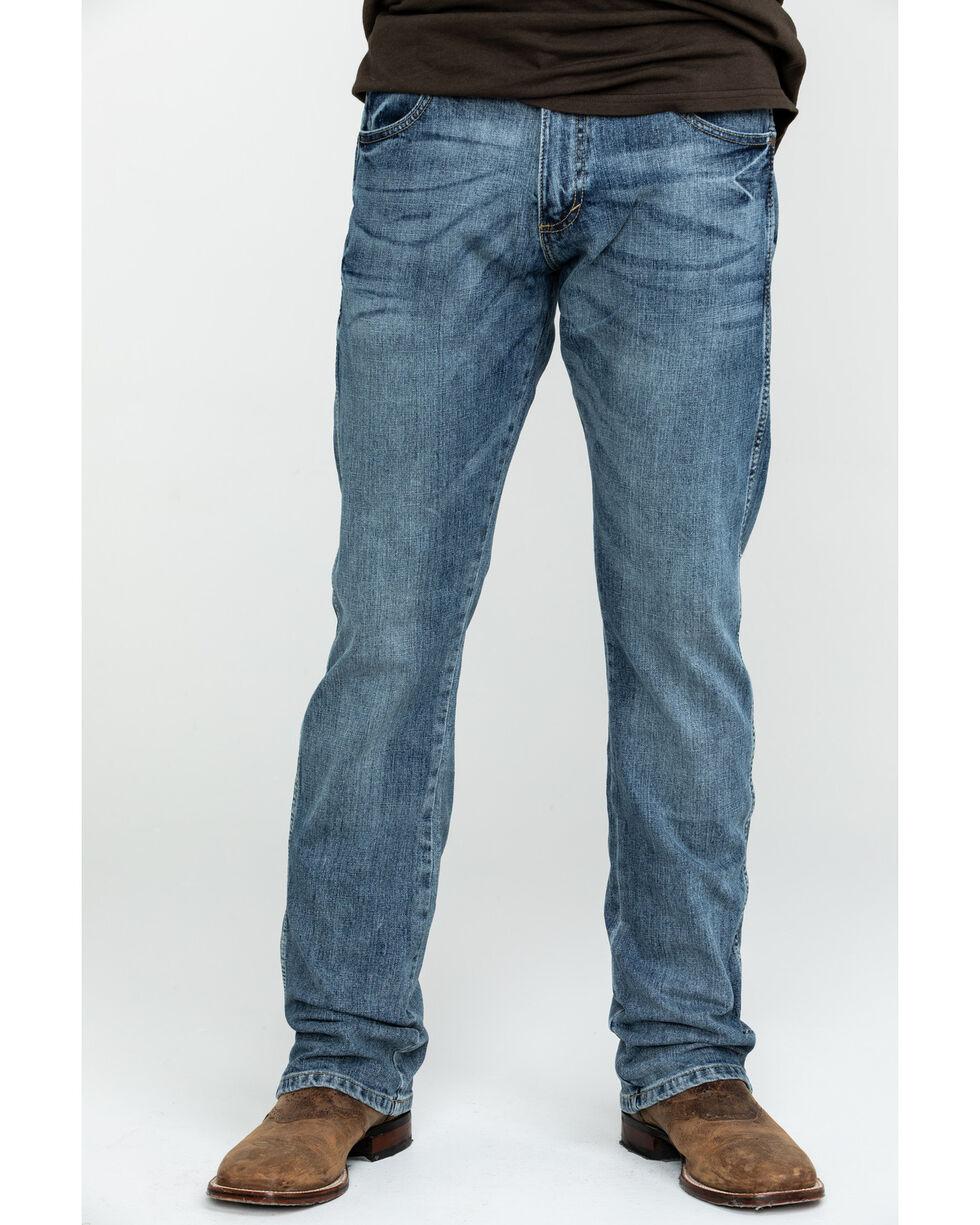 Wrangler Men's Retro Slim Fit Boot Cut Jeans , Blue, hi-res