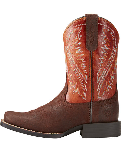 Ariat Boys' Hoolihan Alamo Cowboy Boots - Square Toe, Brown, hi-res