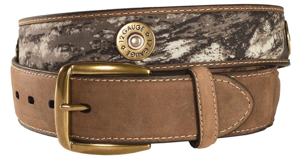 Nocona Mossy Oak Shotgun Shell Outdoor Belt, Mossy Oak, hi-res