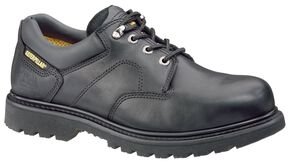 Caterpillar Ridgemont Lace-Up Oxford Work Shoes - Steel Toe, Black, hi-res