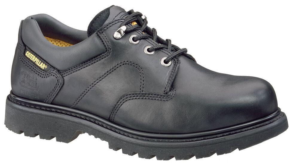 Caterpillar Ridgemont Lace-Up Oxford Work Shoes - Steel Toe, Black, hi-res