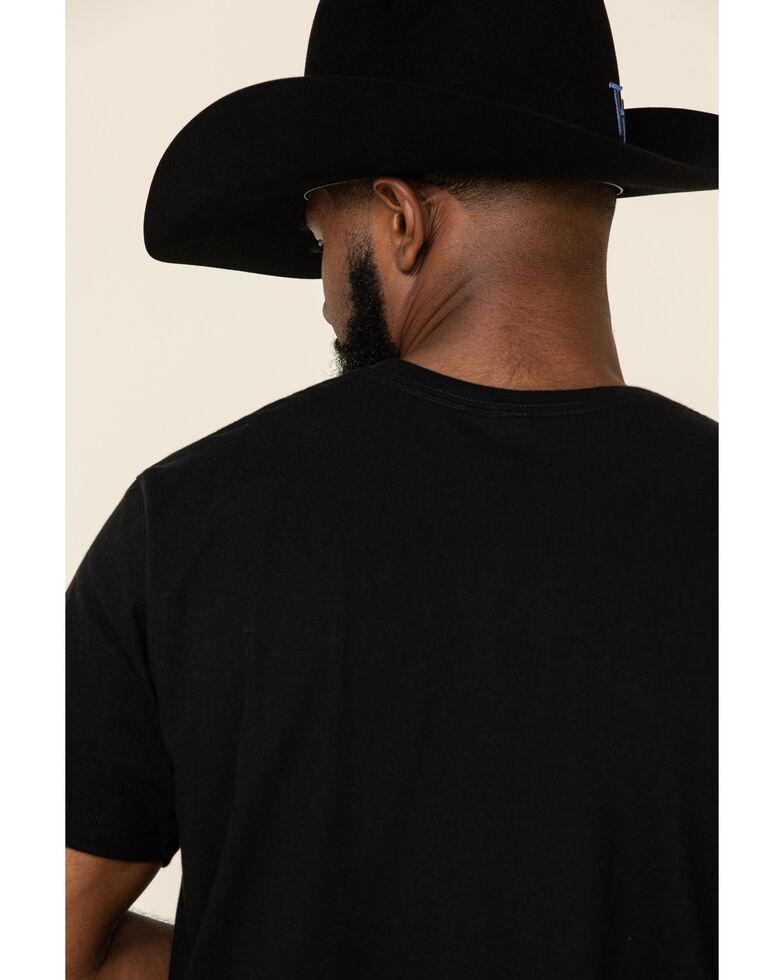 Moonshine Spirit Men's Whiskey Neon Graphic Short Sleeve T-Shirt , Black, hi-res