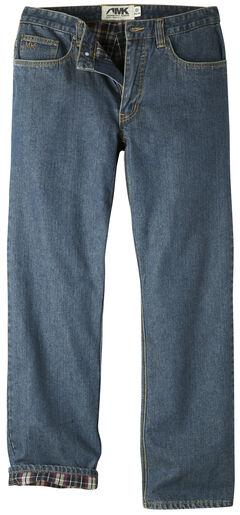 Mountain Khakis Men's Original Mountain Flannel Lined Jeans, Navy, hi-res