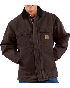 Carhartt Sandstone Traditional Work Coat, Brown, hi-res