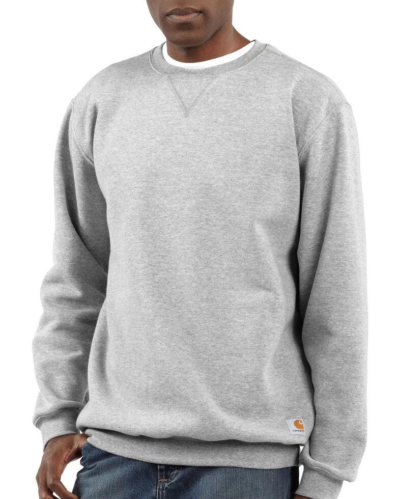 Carhartt Midweight Crew Neck Sweatshirt - Big & Tall, Hthr Grey, hi-res
