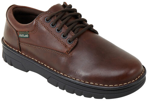 Eastland Men's Brown Plainview Oxfords , Brown, hi-res