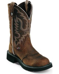Justin Gypsy Women's Inji Aged Bark Cowgirl Boots - Round Toe, Aged Bark, hi-res
