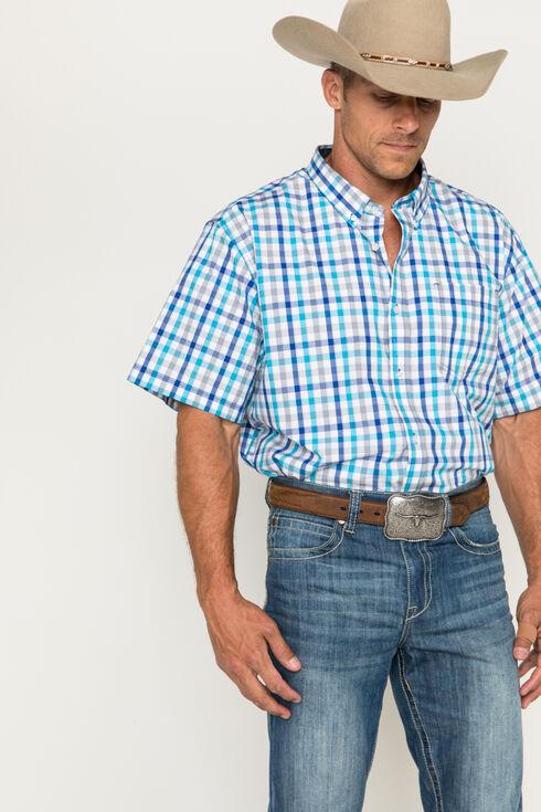 Cody James Men's Light Blue Plaid Button-Up Shirt, Blue, hi-res