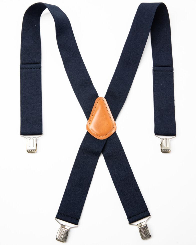 Hawx Men's Navy Work Suspenders, Navy, hi-res