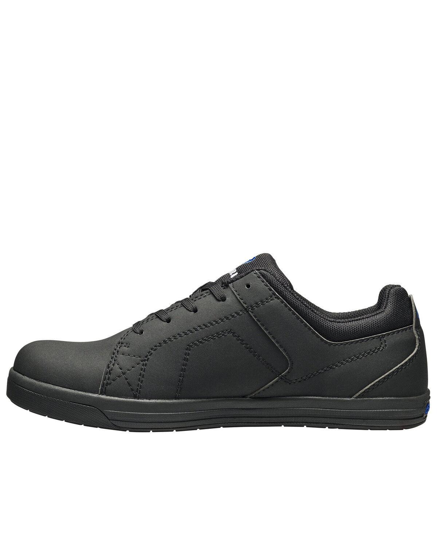 soft black work shoes