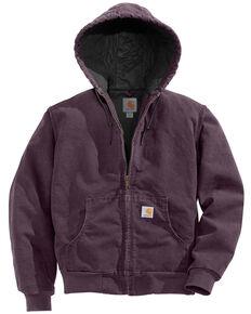 Carhartt Women's Active Duck Quilted Work Jacket, Plum, hi-res