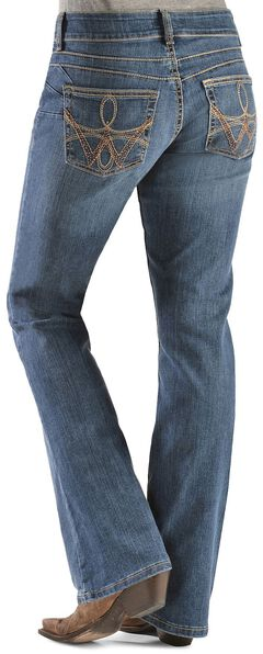 Wrangler Booty Up Premium Patch Pocket Bootcut Jeans, Denim, hi-res