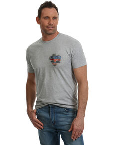 Wrangler Men's Get A Grip Graphic T-Shirt , Heather Grey, hi-res