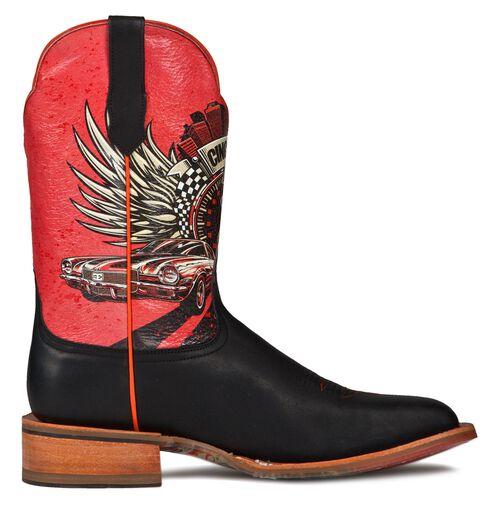 Cinch Edge Race Ready Cowboy Boots - Square Toe, Brown, hi-res