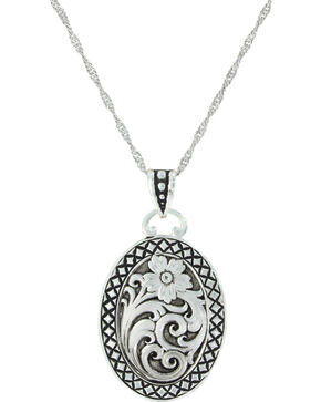 Montana Silversmiths Women's Stitched In Wilderness Necklace, Silver, hi-res