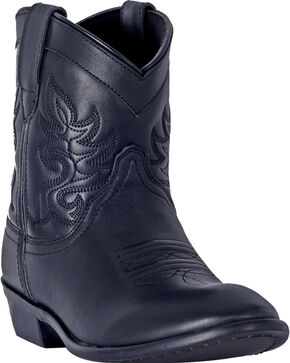 Dingo Women's Black Willie Leather Short Boots - Round Toe , Black, hi-res