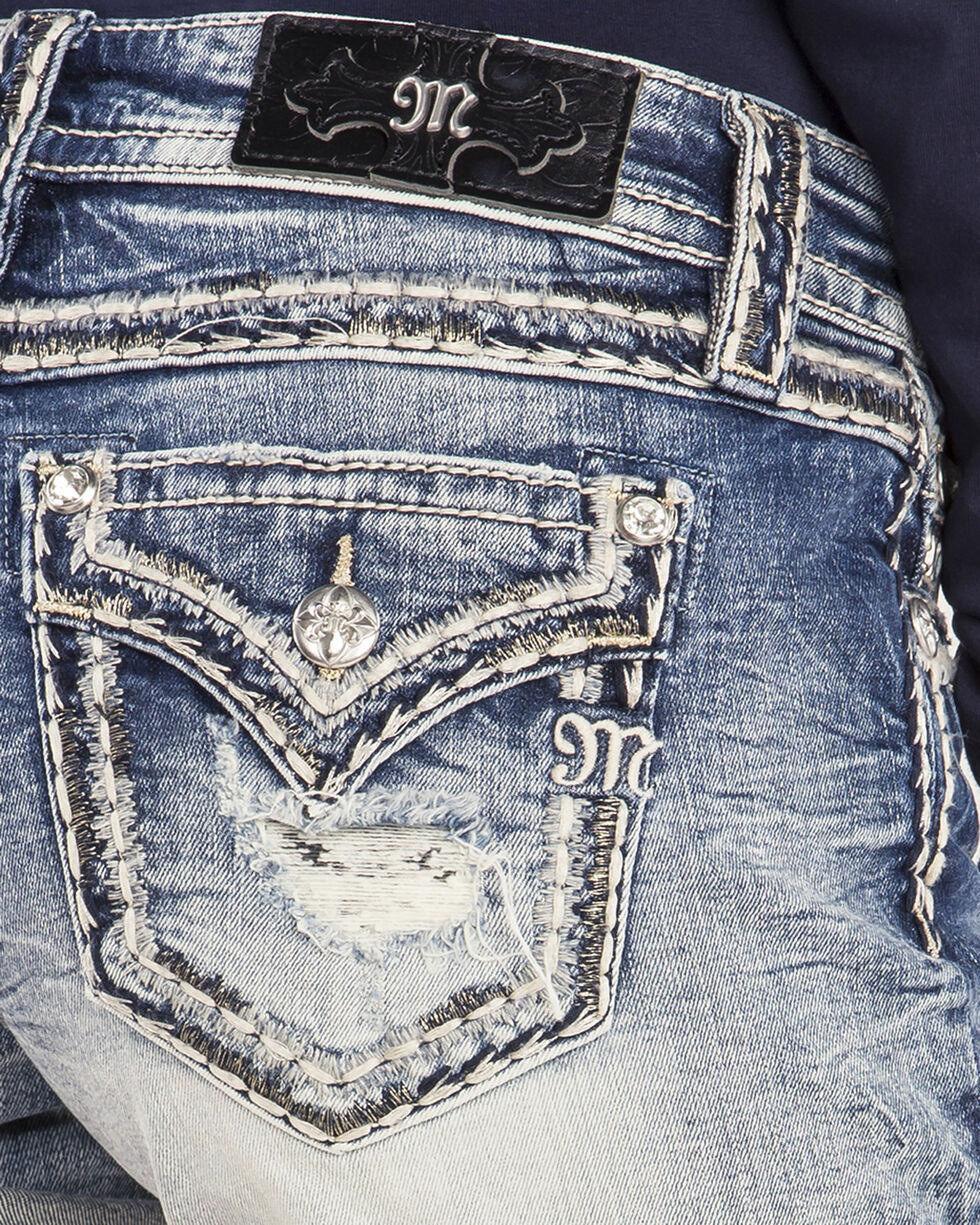 Miss Me Women's Cuffing Season Mid-Rise Shorts, Indigo, hi-res