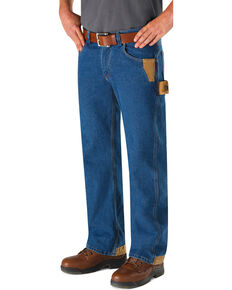 Red Kap Men's Workwear Relaxed Fit Carpenter Jeans , Blue, hi-res