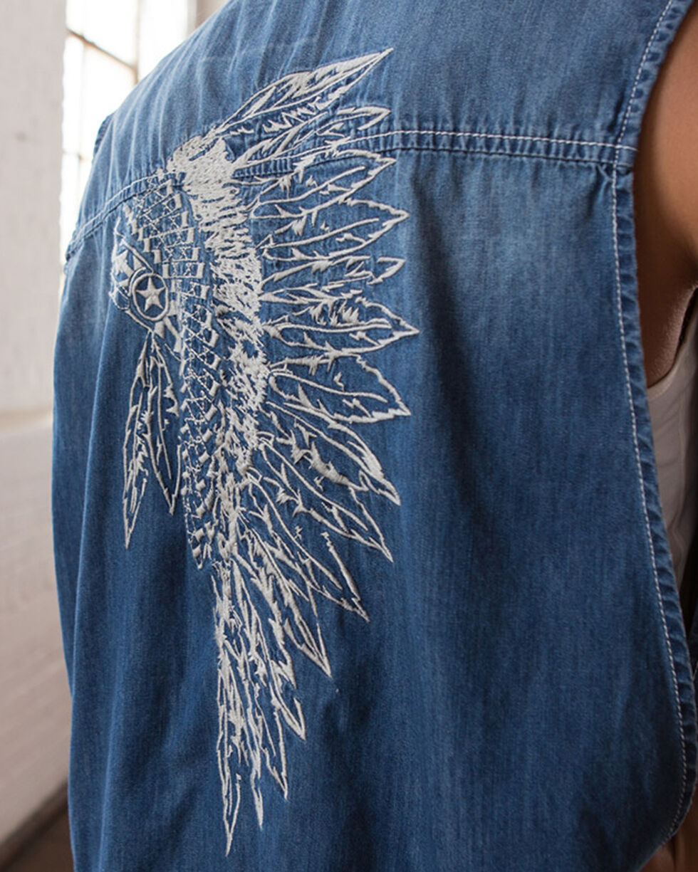 Ryan Michael Women's Headdress Embroidered Vest, , hi-res