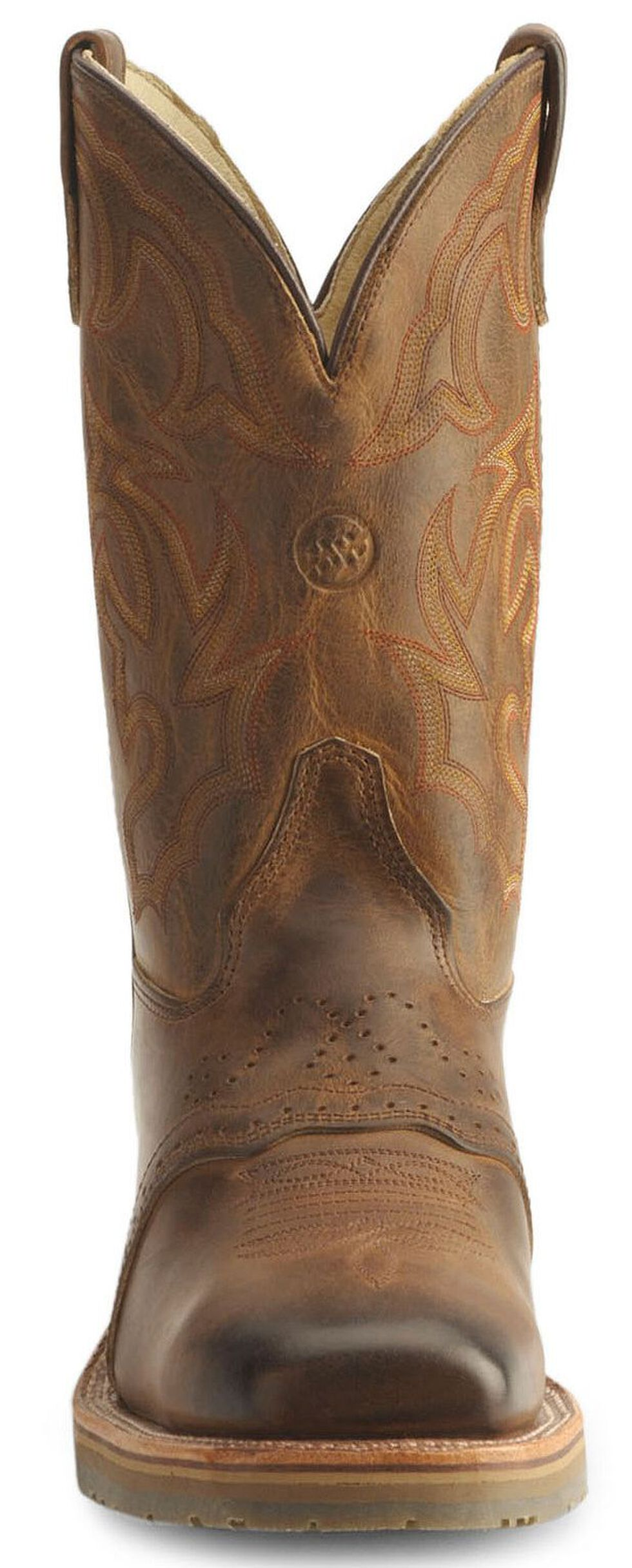 Double H Roper Cowboy Work Boots - Square Steel Toe, Bark, hi-res