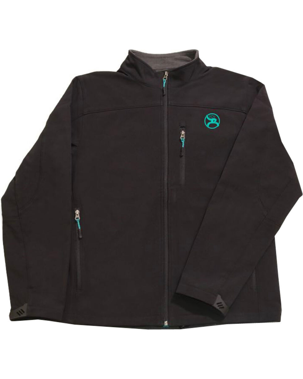 Hooey Men's Black Soft Shell Fleece Lined Jacket , Black, hi-res