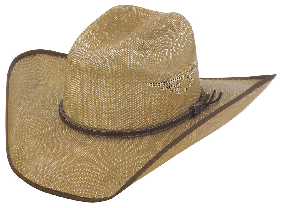 Justin Bent Rail Tan Fenix Straw Hat, Tan, hi-res
