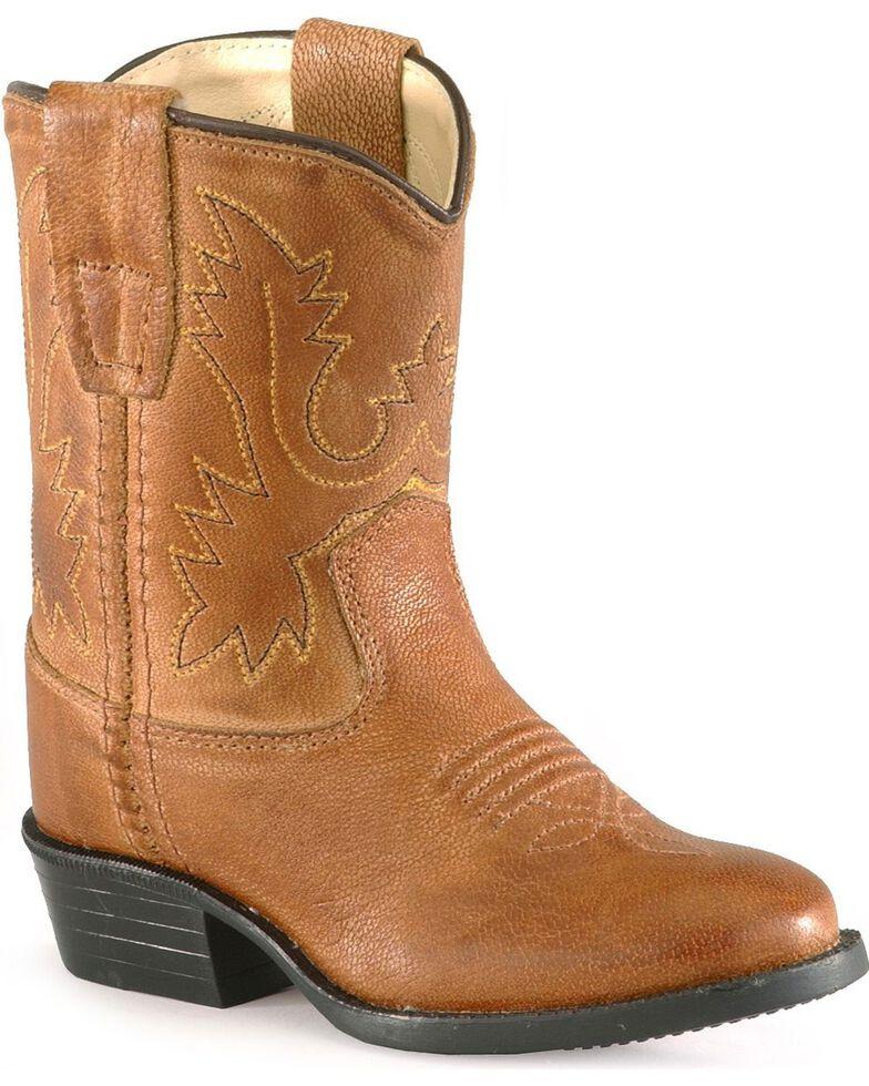 Old West Toddler Boys' Tan Cowboy Boots, Tan, hi-res