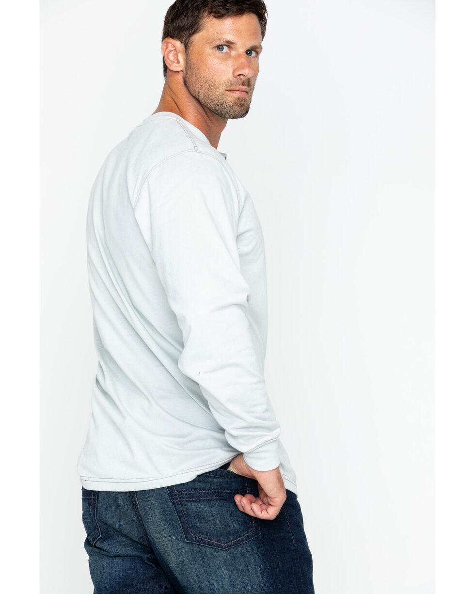 Carhartt Flame Resistant Long Sleeve Work Henley Shirt - Big & Tall, Lt Grey, hi-res