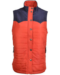 STS Ranchwear Women's Red Contrast River Softshell Vest , Red, hi-res