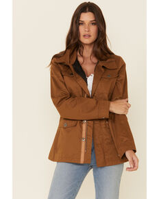 Powder River Outfitters Women's Brown Rancher Jacket, Brown, hi-res