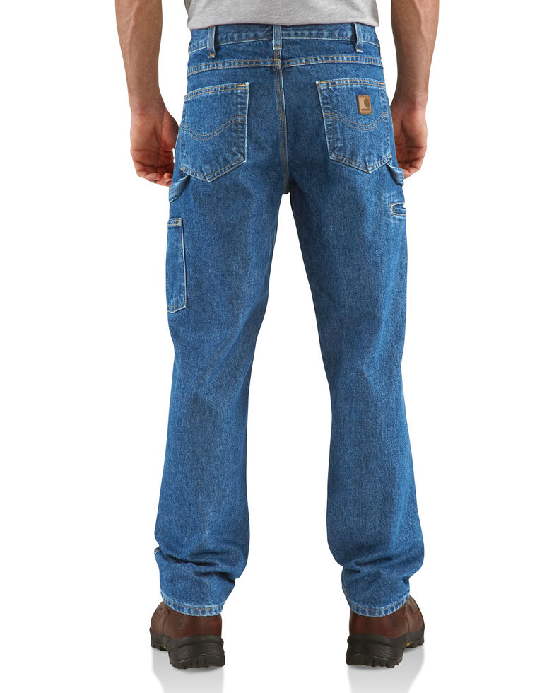 Carhartt Men's Relaxed Fit Carpenter Jeans - Straight Leg , Blue, hi-res