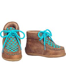 d392f17d1f1c Blazin Roxx Toddler Girls Cassidy Turquoise Casual Shoes - Moc Toe, Brown,  hi-